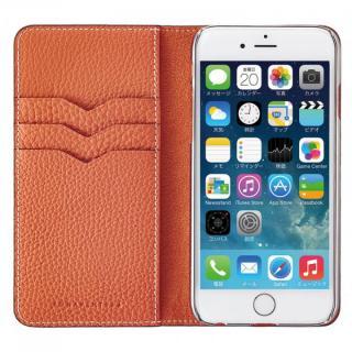 BONAVENTURA ドイツ製本革手帳型ケース オレンジ iPhone 6