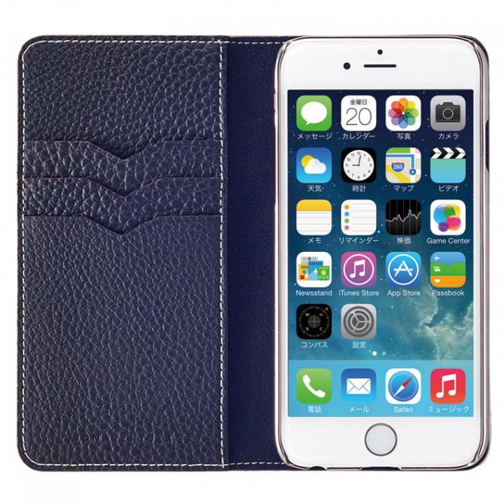 BONAVENTURA ドイツ製本革手帳型ケース ネイビー iPhone 6