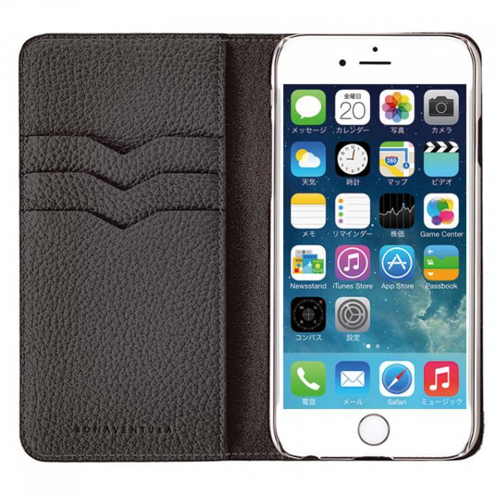 【iPhone6s/6ケース】BONAVENTURA ドイツ製本革手帳型ケース ブラック iPhone 6s/6_0
