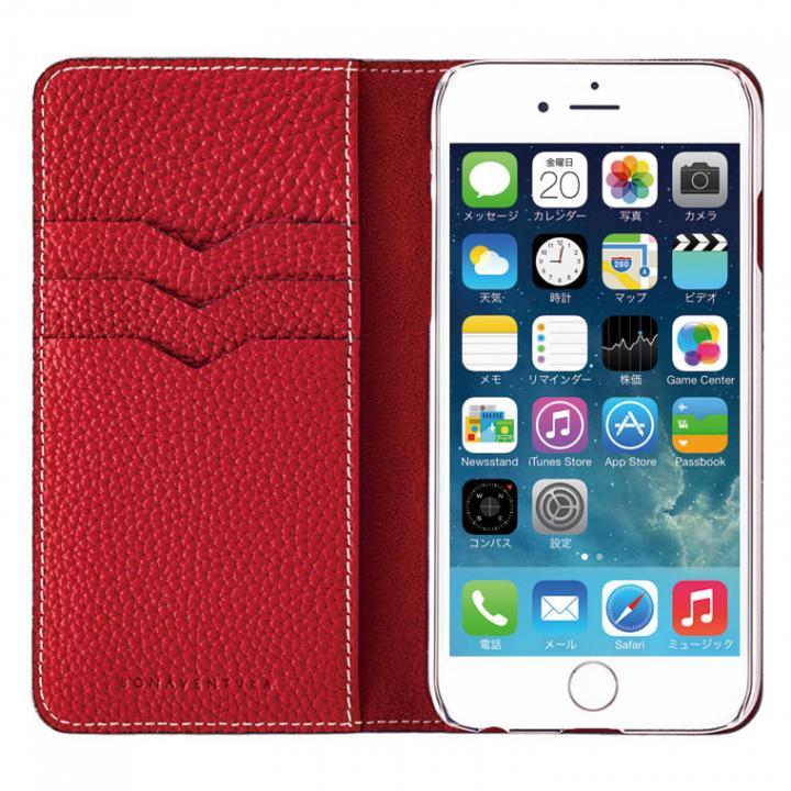 【iPhone6ケース】BONAVENTURA ドイツ製本革手帳型ケース レッド iPhone 6_0