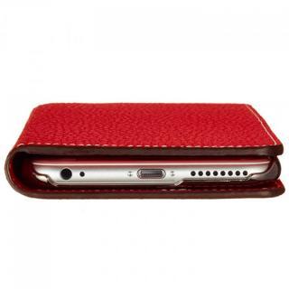 【iPhone6ケース】BONAVENTURA ドイツ製本革手帳型ケース レッド iPhone 6_6