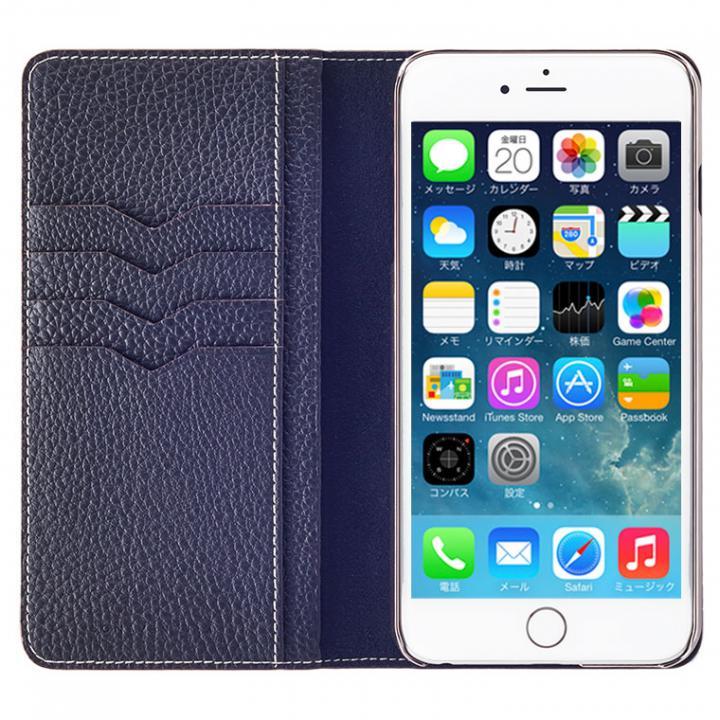 【iPhone6s Plus/6 Plusケース】BONAVENTURA ドイツ製本革手帳型ケース ネイビー iPhone 6s Plus/6 Plus_0