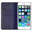BONAVENTURA ドイツ製本革手帳型ケース ネイビー iPhone 6s Plus/6 Plus
