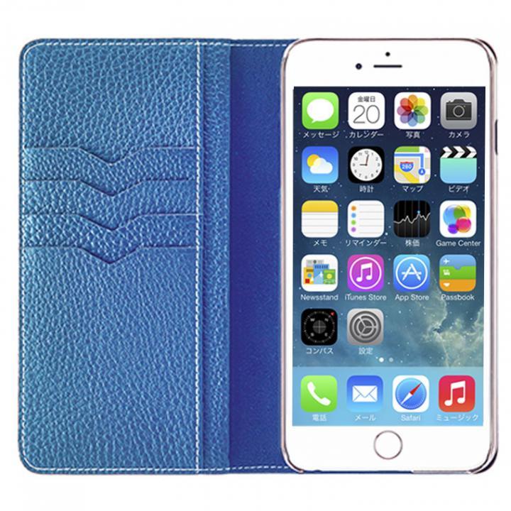 【iPhone6s Plus/6 Plusケース】BONAVENTURA ドイツ製本革手帳型ケース ブルー iPhone 6s Plus/6 Plus_0