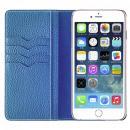 BONAVENTURA ドイツ製本革手帳型ケース ブルー iPhone 6s Plus/6 Plus