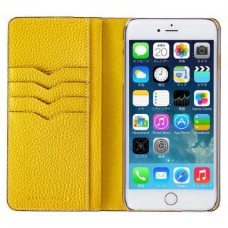 BONAVENTURA ドイツ製本革手帳型ケース イエロー iPhone 6 Plus