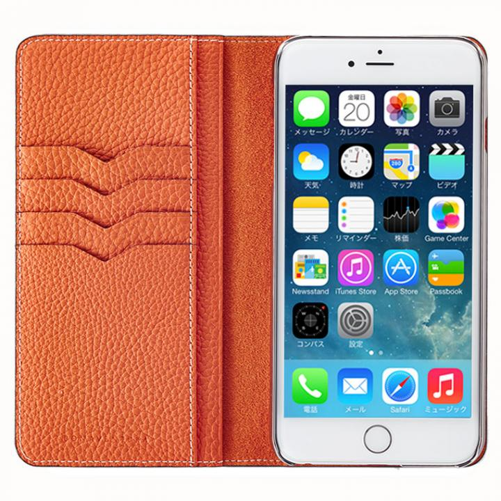 iPhone6 Plus ケース BONAVENTURA ドイツ製本革手帳型ケース オレンジ iPhone 6 Plus_0