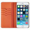 BONAVENTURA ドイツ製本革手帳型ケース オレンジ iPhone 6 Plus