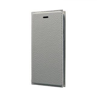 iPhone SE 第2世代 ケース 薄型PUレザーフラップケース「FOLINO」 ライトグレー iPhone SE 第2世代