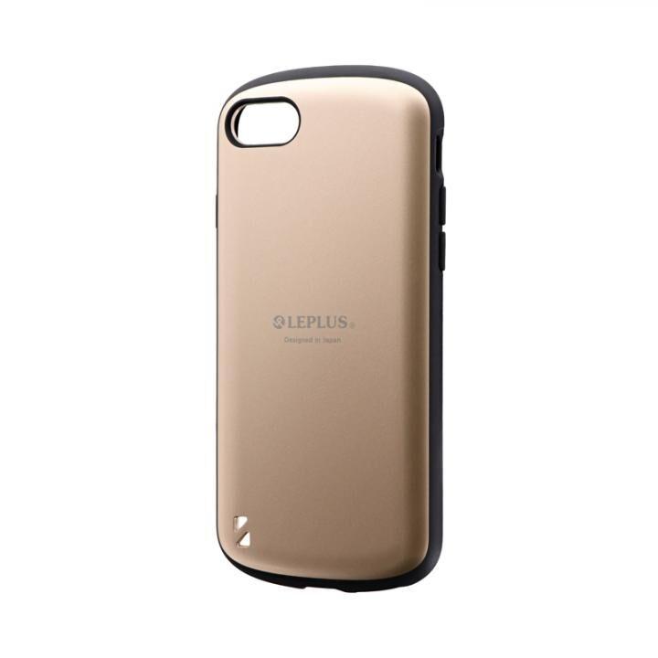 耐衝撃ハイブリッドケース「PALLET」 マットゴールド iPhone SE 第2世代_0