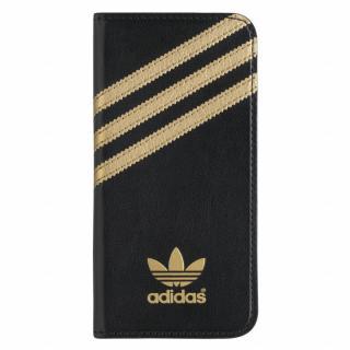 adidas Originals 手帳型ケース ブラックゴールド iPhone 6s/6