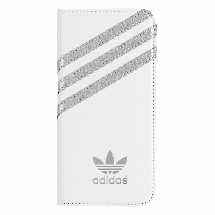 iPhone6s/6 ケース adidas Originals 手帳型ケース ホワイトシルバー iPhone 6s/6_0