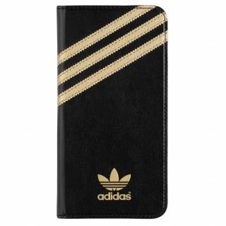 adidas Originals 手帳型ケース ブラックゴールド iPhone 6s Plus/6 Plus