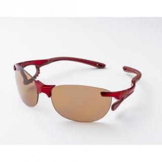 鼻でかけない薄い色のサングラス「エアサイト ドライブ」 レッド