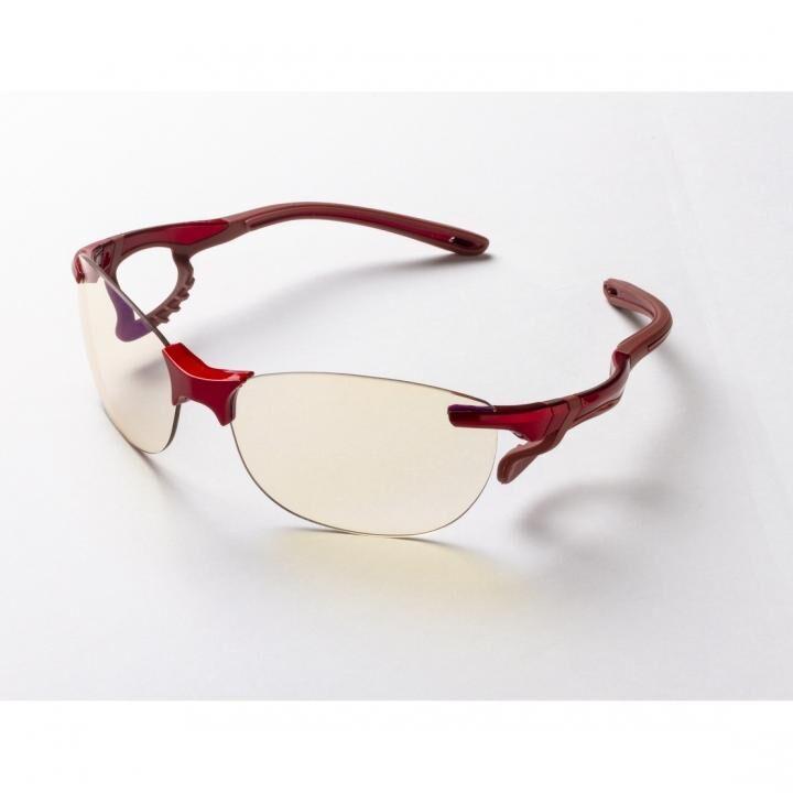鼻でかけない薄い色のサングラス「エアサイト」 レッド_0