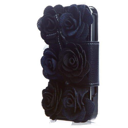 6輪のバラが咲き誇る Bella Rosette Diary iPhone SE/5s/5 手帳型ケース