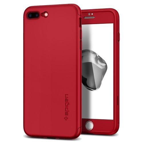 【iPhone7 Plusケース】Spigen シンフィット360 レッド iPhone 7 Plus_0