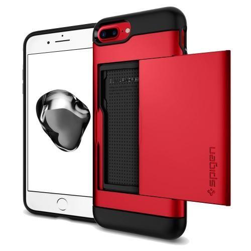 【iPhone8 Plus/7 Plusケース】Spigen スリムアーマー カード収納 レッド iPhone 8 Plus/7 Plus_0