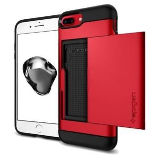 Spigen スリムアーマー カード収納 レッド iPhone 8 Plus/7 Plus