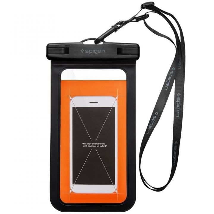 iPhone7/7 Plus ケース Spigen スマートフォン防水ポーチ A600 IPX8 ブラック_0