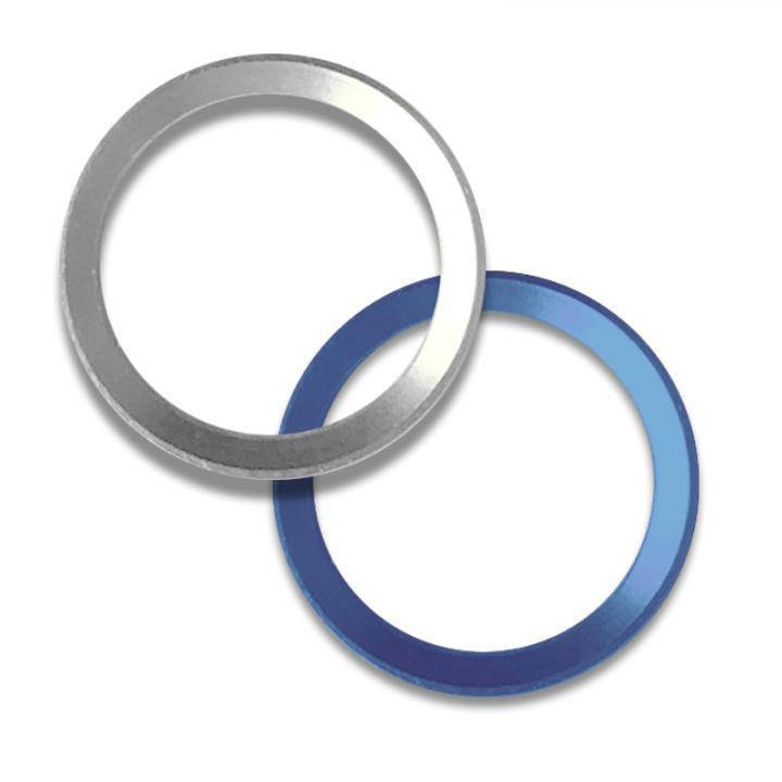 Touch ID対応 ホームボタンリング truffol クリーナー付 シルバー/ブルー_0