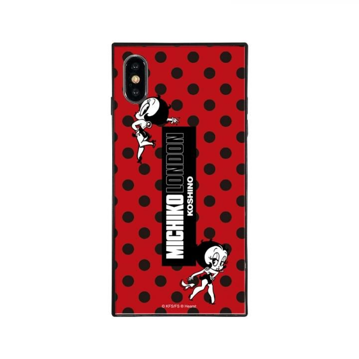 iPhone XS/X ケース MICHIKOLONDON×BETTYBOOP スクエア型 ガラスケース RETRO DOT iPhone XS/X【9月下旬】_0