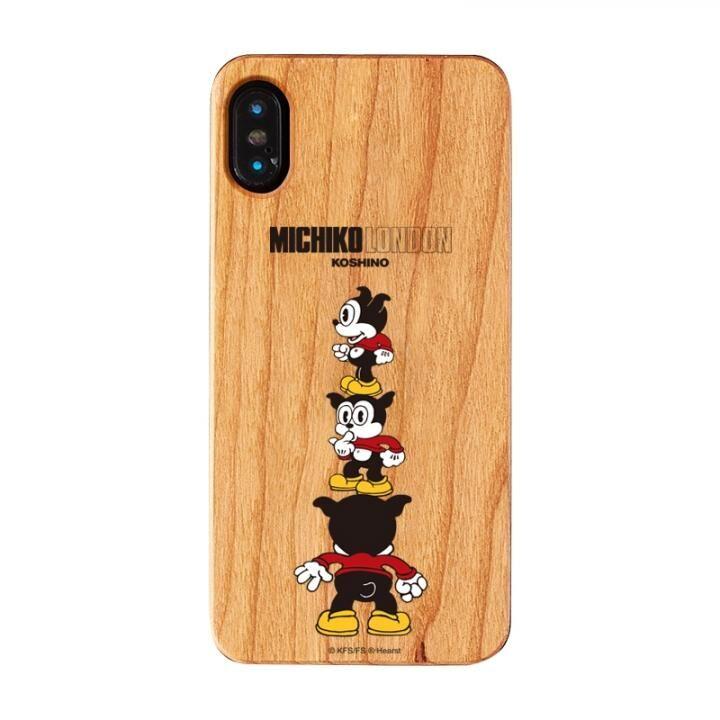 iPhone XS/X ケース MICHIKOLONDON×BETTYBOOP ウッドケース CUTIE BIMBO iPhone XS/X_0