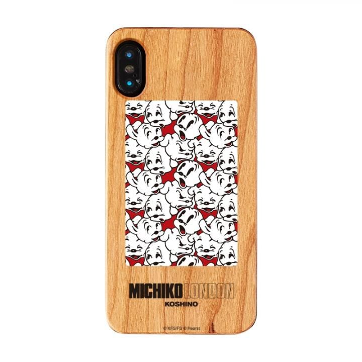 iPhone XS/X ケース MICHIKOLONDON×BETTYBOOP ウッドケース CUTIE PUDGY iPhone XS/X_0