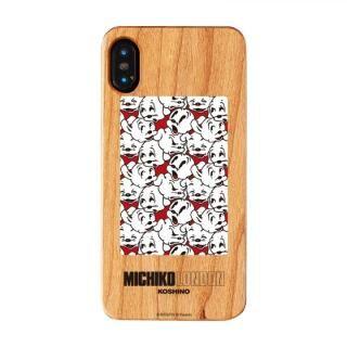 iPhone XS/X ケース MICHIKOLONDON×BETTYBOOP ウッドケース CUTIE PUDGY iPhone XS/X