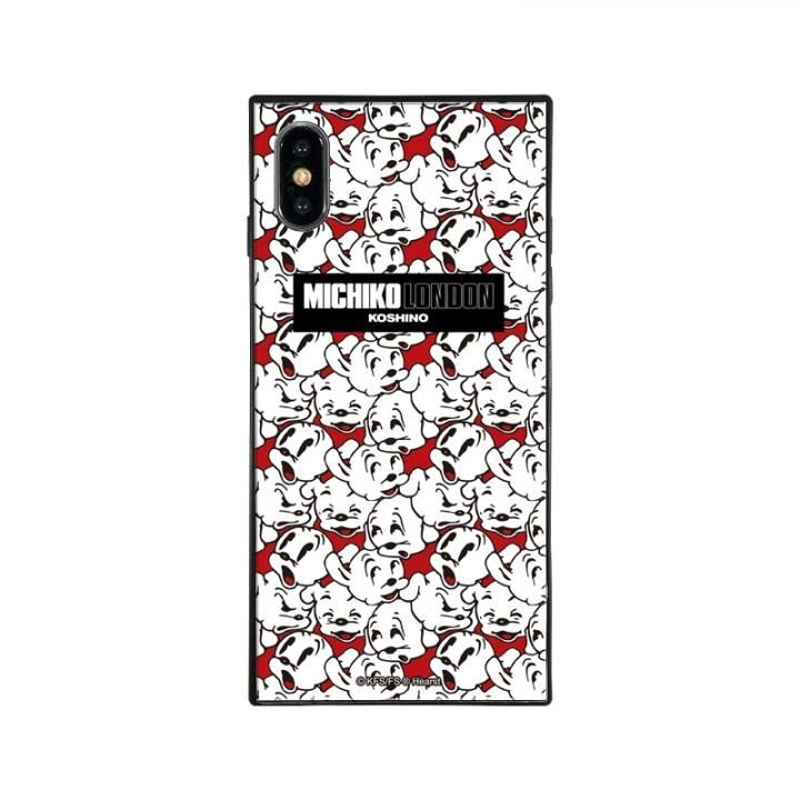 iPhone XS Max ケース MICHIKOLONDON×BETTYBOOP スクエア型 ガラスケース CUTIE PUDGY iPhone XS Max_0