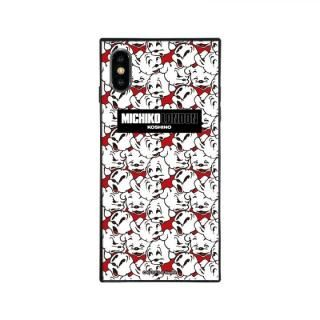 iPhone XS Max ケース MICHIKOLONDON×BETTYBOOP スクエア型 ガラスケース CUTIE PUDGY iPhone XS Max【2月上旬】