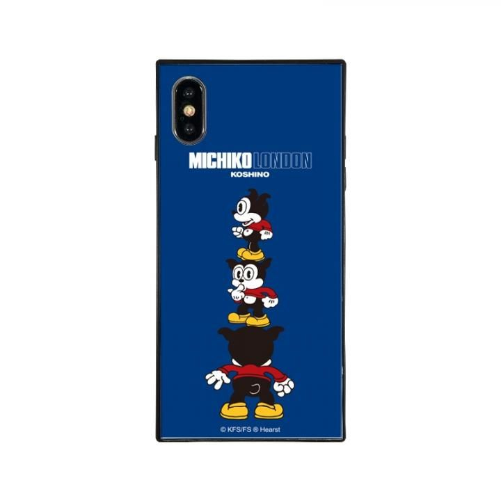 iPhone XS Max ケース MICHIKOLONDON×BETTYBOOP スクエア型 ガラスケース CUTIE BIMBO iPhone XS Max_0