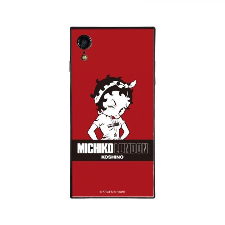 iPhone XR ケース MICHIKOLONDON×BETTYBOOP スクエア型 ガラスケース STREET STYLE iPhone XR【6月上旬】_0