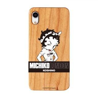 iPhone XR ケース MICHIKOLONDON×BETTYBOOP ウッドケース STREET STYLE iPhone XR