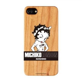 iPhone8/7/6s/6 ケース MICHIKOLONDON×BETTYBOOP ウッドケース STREET STYLE/6s/6 iPhone 8/7/6s/6