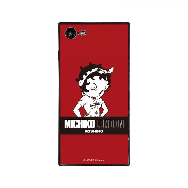 iPhone8/7 ケース MICHIKOLONDON×BETTYBOOP スクエア型 ガラスケース STREET STYLE iPhone 8/7【8月下旬】_0