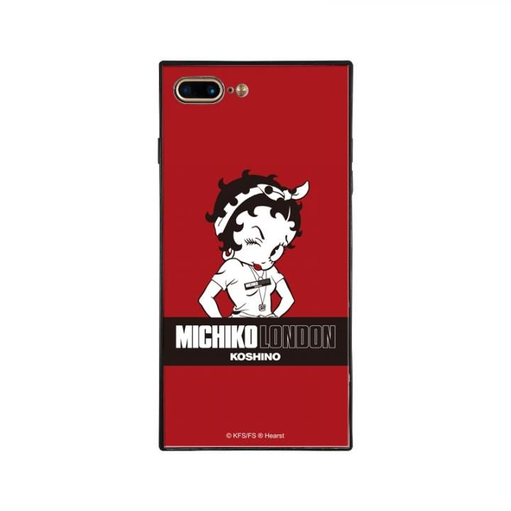 iPhone8 Plus/7 Plus ケース MICHIKOLONDON×BETTYBOOP スクエア型 ガラスケース STREET STYLE iPhone 8 Plus/7 Plus_0