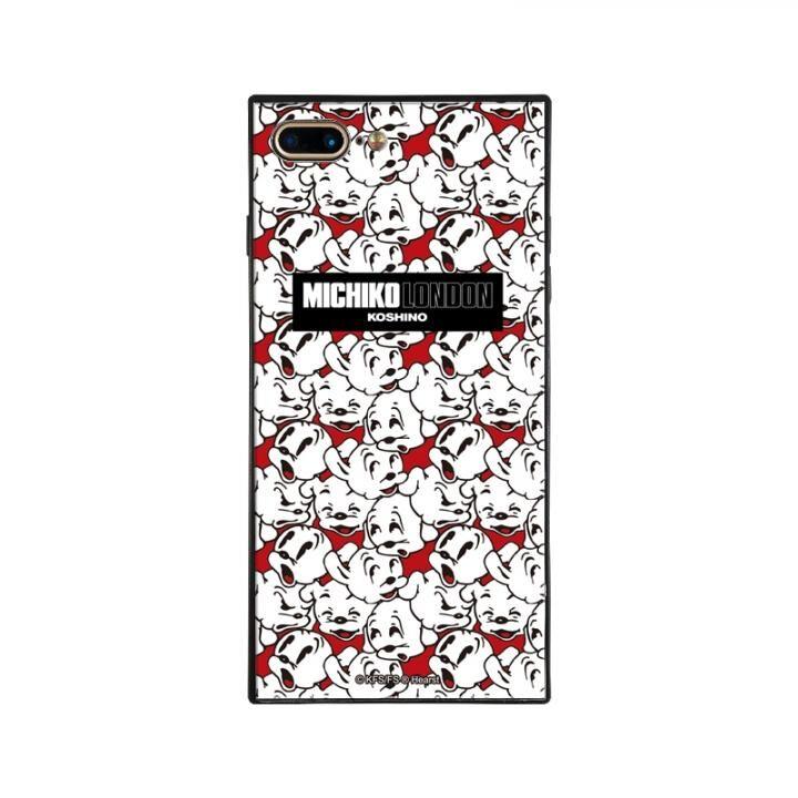 iPhone8 Plus/7 Plus ケース MICHIKOLONDON×BETTYBOOP スクエア型 ガラスケース CUTIE -PUDGY iPhone 8 Plus/7 Plus_0