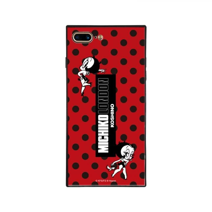 iPhone8 Plus/7 Plus ケース MICHIKOLONDON×BETTYBOOP スクエア型 ガラスケース RETRO DOT iPhone 8 Plus/7 Plus_0