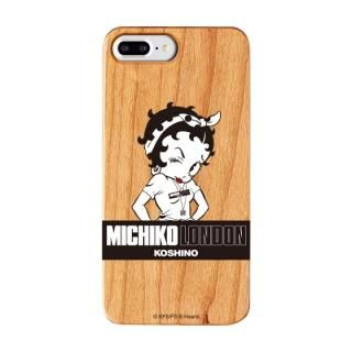 iPhone8 Plus/7 Plus ケース MICHIKOLONDON×BETTYBOOP ウッドケース STREET STYLE iPhone 8 Plus/7 Plus/6s Plus/6 Plus