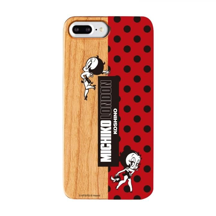 iPhone8 Plus/7 Plus ケース MICHIKOLONDON×BETTYBOOP ウッドケース RETRO DOT iPhone 8 Plus/7 Plus/6s Plus/6 Plus_0
