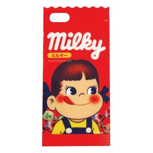 iPhone SE/5s/5 ケース ミルキー iPhone5専用 ダイカットキャラクタージャケット ペコちゃん_0
