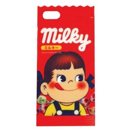 ミルキー iPhone5専用 ダイカットキャラクタージャケット ペコちゃん
