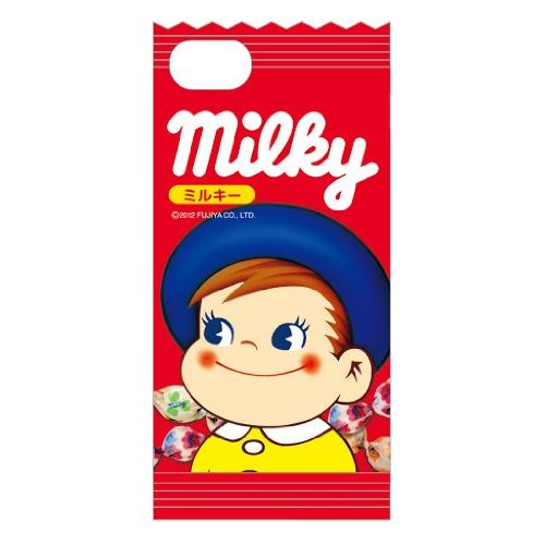 iPhone SE/5s/5 ケース ミルキー iPhone5専用 ダイカットキャラクタージャケット ポコちゃん_0
