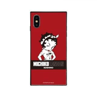 iPhone XS/X ケース MICHIKOLONDON×BETTYBOOP スクエア型 ガラスケース STREET STYLE iPhone XS/X