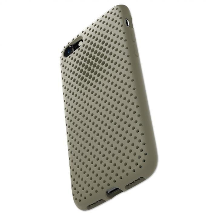 【iPhone8/7ケース】エラストマー AndMesh MESH CASE Clay Green iPhone 8/7_0