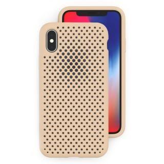 【iPhone XS/Xケース】エラストマー AndMesh MESH CASE Ivory iPhone XS/X