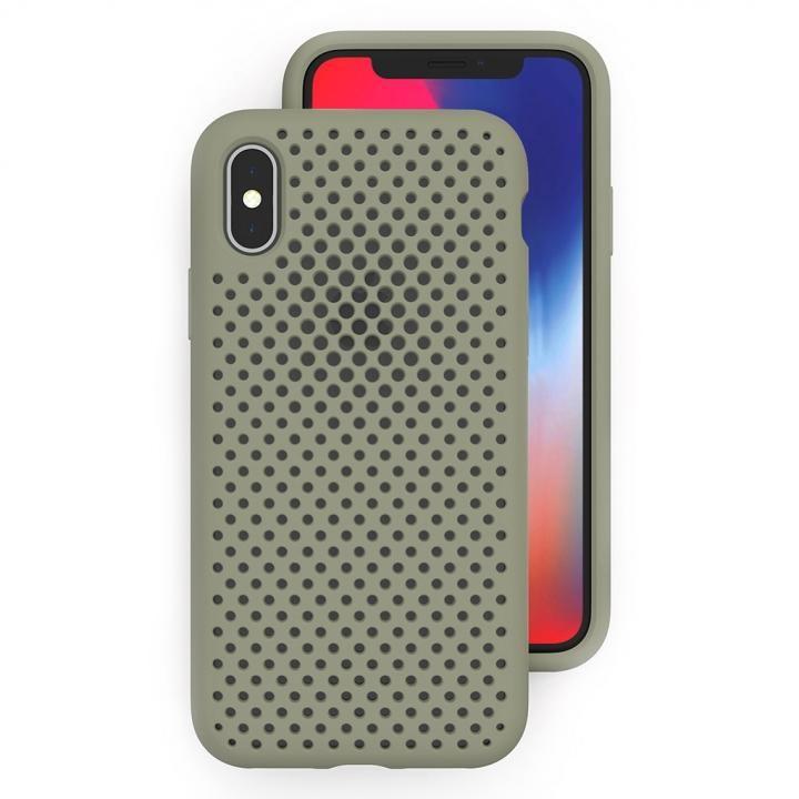 【iPhone XS/Xケース】エラストマー AndMesh MESH CASE Clay Green iPhone XS/X_0