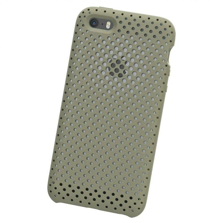 エラストマー AndMesh MESH CASE Clay Green iPhone SE