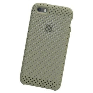 iPhone SE ケース エラストマー AndMesh MESH CASE Clay Green iPhone SE